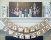 Wedding Banner Decoration,Custom Name,Couples name banner,Save the date,Custom Names, Photo Prop Sign, Bridal Shower,Wedding Sign