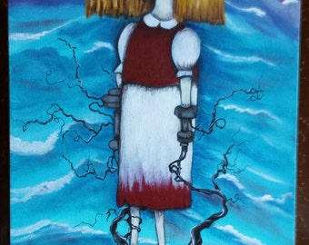 Original pop surrealist  painting by ANGIECLEMENTINE