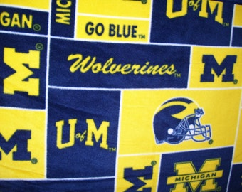Go Blue!  Michigan Blanket