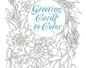 Greeting Cards to Color