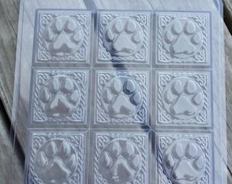 Tray-Paw Print Soap Mold