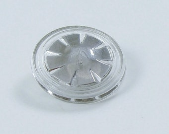 Vintage Silver Luster Clear Glass Button