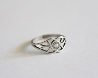 Adjustable brass ring (silver finish)