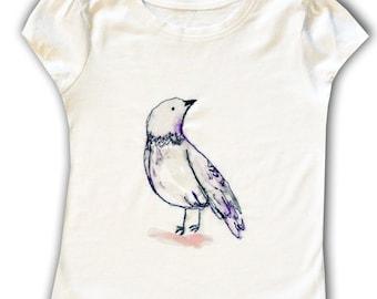 Bird T-shirt  / Girls Tee Shirt / Top /  Children's / Kids / Baby Clothes
