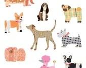 Dogs Sticker • Turnowsky Chic Dogs Stickers • Pet Lover • Pet Sticker • Dog Sticker • Dog Birthday • Dog Party • Kawaii Sticker (46825)