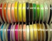 "65% OFF-- 5/8"" Satin Edge Organza Ribbon--FULL ROLL--25 yards--You Choose Color"