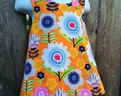 Reversible Pinafore --- Orange Pop