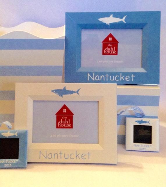 Shark frames and ornaments