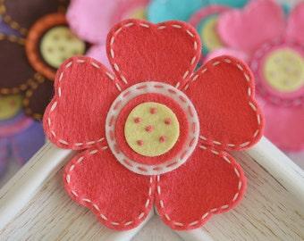 New! Handmade large felt flower--watermelon (FT824)