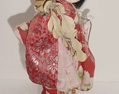 Oriental Young Lady doll - all Original - Glass Eyes - GREAT