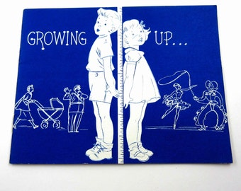 """Growing Up Vintage 1960s Children""""s Book by National Dairy Council"""
