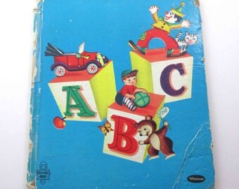 Alphabet Rhymes Vintage 1950s Children's Book by Whitman