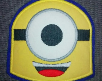 Custom Handmade Yellow Minion Embroidered Applique Sew On Patch