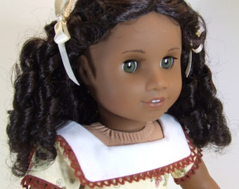 """Pale Yellow dress made to fit 18"""" dolls"""
