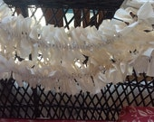PRiMiTiVe Lighted Rag Swag Garland MUSLIN 9 feet long