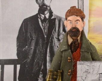 Colonel Percy Fawcett Historical Explorer Art Doll Miniature