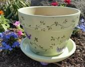 Butterfly flower pot
