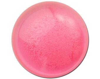 Vintage Pink Acrylic Translucent Cabochon with Bubbles 30mm (2) cab793