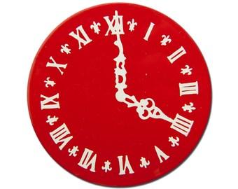 Vintage Enameled Metal Clock Face Cabochon 68mm (1) Cab214