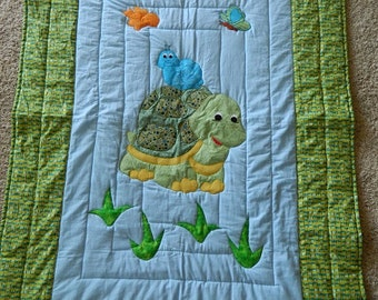 Little Turtle and Snail, Blue