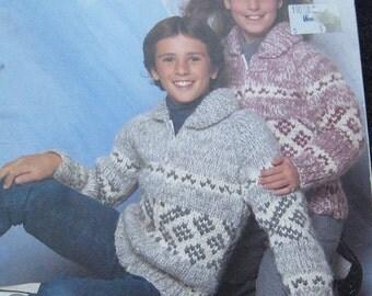 White Buffalo Cowichan Childrens Cardigan Sweater Pattern