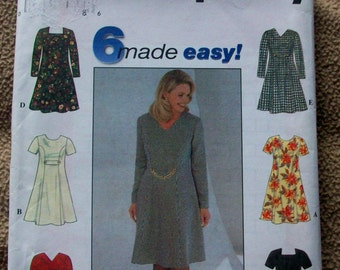 Simplicity 7831 Plus Size Fit and Flare Dress Sewing Pattern