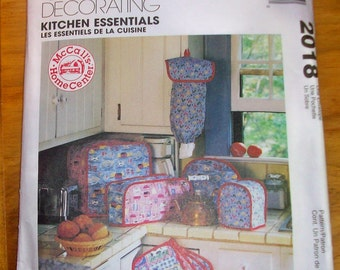 McCalls Home Decorating 2018 Kitchen essentials sewing pattern