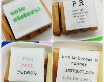 Womens Sport. Running. Running Gifts. Runner Gift Soap Gift Set. Set of 4, Fitness Gift. Race Swag. Running Inspiration, Race Training