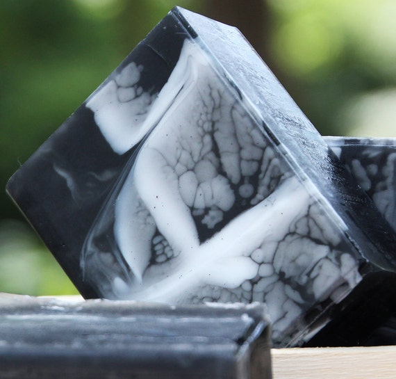 Handmade Activated Bamboo Charcoal Olive Oil and Shea Butter Soap - Lavender, Tea Tree, and Lemon Soap // Gifts for Her