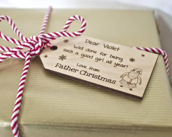 Christmas Tag with Personalisation - Personalized Child's Christmas Gift Tag - Christmas Gift - Christmas Tag - Tags - Christmas Wrapping