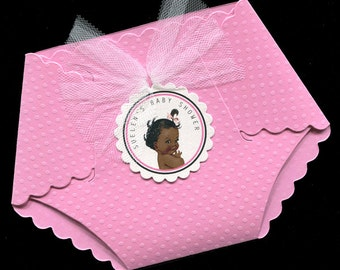 Baby Shower Invitations - Baby Girl Baby Shower Invitations - Baby Girl Shower Invitations - Diaper Invitations - Pink - Baby Girl