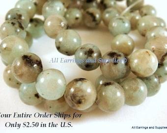 Sesame Jasper Stones 8mm Semi Precious Beads Round C Grade - 16 inch - S9003ST-SJ8mm