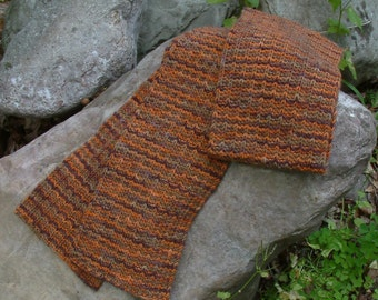 Burnt Orange Merino Wool Scarf
