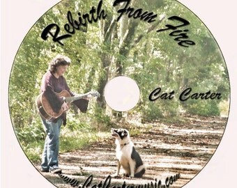 Music CD - Rebirth From Fire by Cat Carter (Sale)
