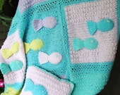 School of Fish Instant Download Crochet Pattern BPyarns Original Baby Blanket and Pillow Pattern Only