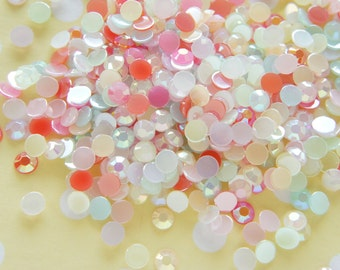 200 pcs Acrylic Faced AB Gems/Rhinestones (6mm) Mixed Colors