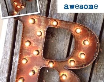 19 Inch Marquee PATINA Steel Letters or Numbers
