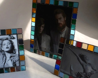 Stained glass picture frame - 4x6 - 5x7 - 8x10