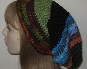 One of a Kind Slouchy Beanie Dread Tam Crochet Hat