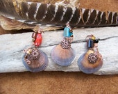 Copper Beaded Sea Shell Pendant