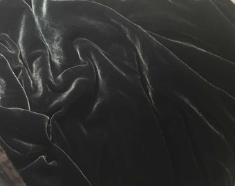 SMOKE GRAY Silk Velvet Fabric fat 1/4
