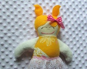 Sloane Small Handmade Fabric Baby Doll