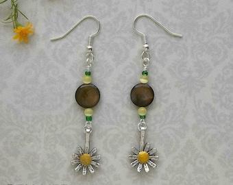 Sunflower Dangle Earring Beaded Jewelry Making Kit