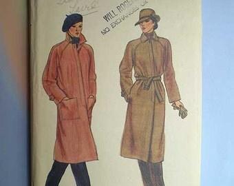 Vintage 70s Coat Pattern Vogue Uncut 32 1/2 Bust