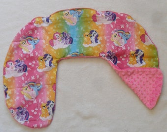 My Little Pony and Hot Pink Minky Dot Nursing Pillow Cover Fits Boppy Two Different Looks