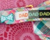 dad dad daddio woven label