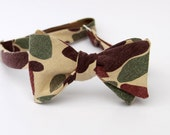 vintage duck hunting camo clip on bow tie