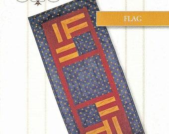 Table Runner Pattern - Flag, Log Cabin Table Runner Pattern