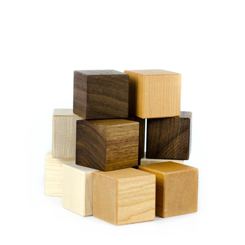 Wooden blocks piece wood toy baby building set