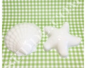 Suddz Seaside Beach Soap Collection: Scallop and Starfish Soap Set - 2oz total - You choose the scent & color!